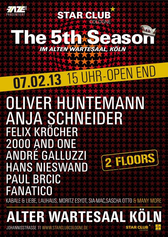 The 5th Season an Weiberfastnacht im Alten Wartesaal, Köln