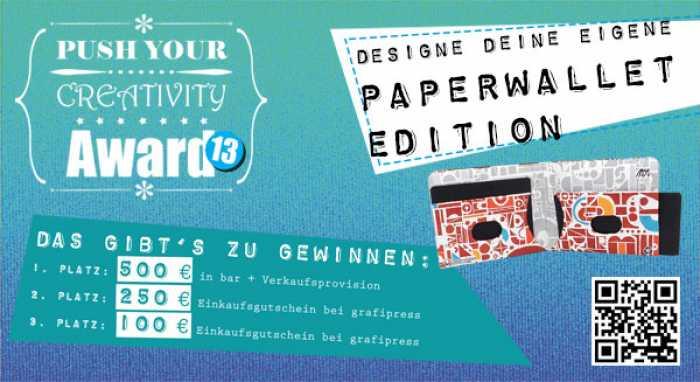 """""""Push Your Creativity""""-Award: Designe dein Paperwallet!"""