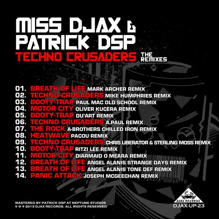 Miss Djax & Patrick DSP – Techno Crusaders The Remixes (Djax Up)