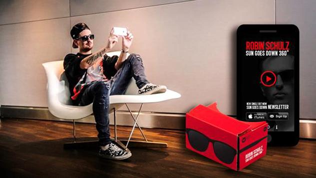 Robin Schulz startet 360-Grad-Musikvideo-App