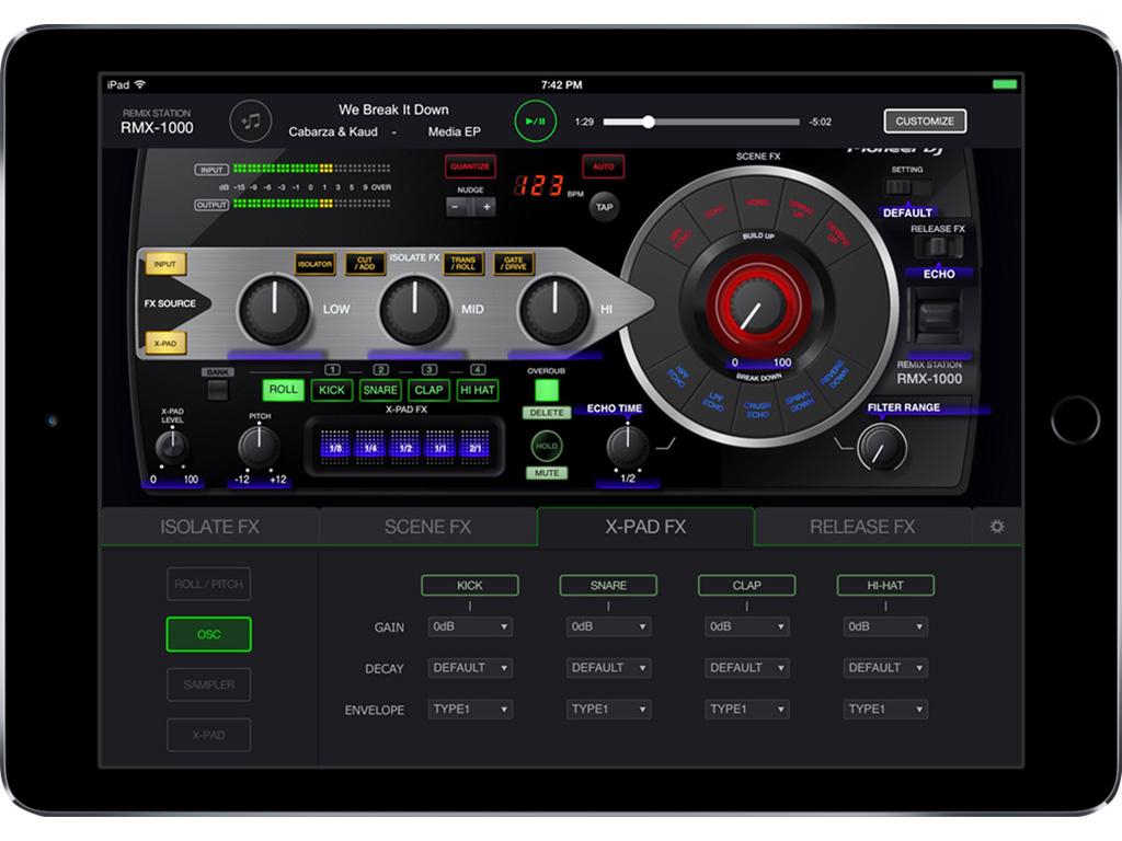 Pioneer DJ bringt den RMX-1000 als App fürs iPad