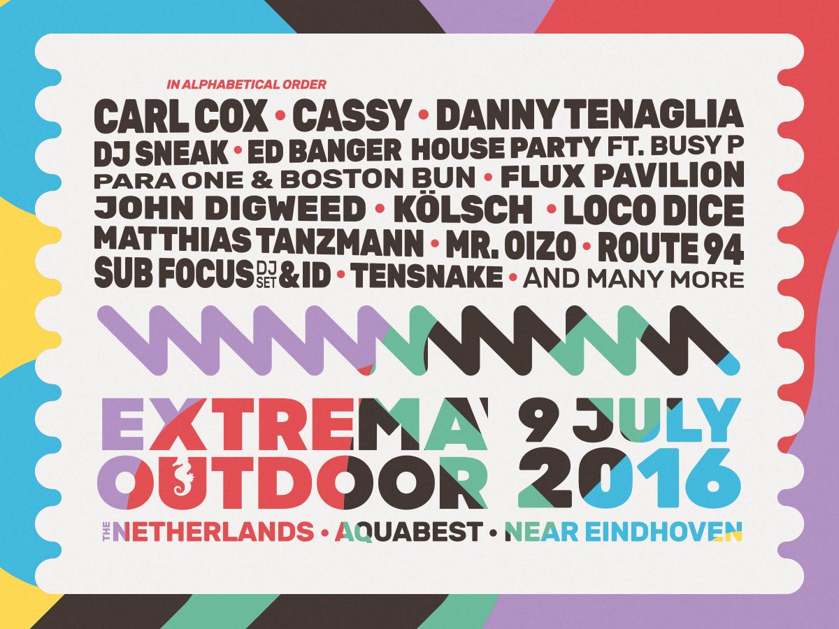 Extrema Outdoor Holland – feiern am Strand