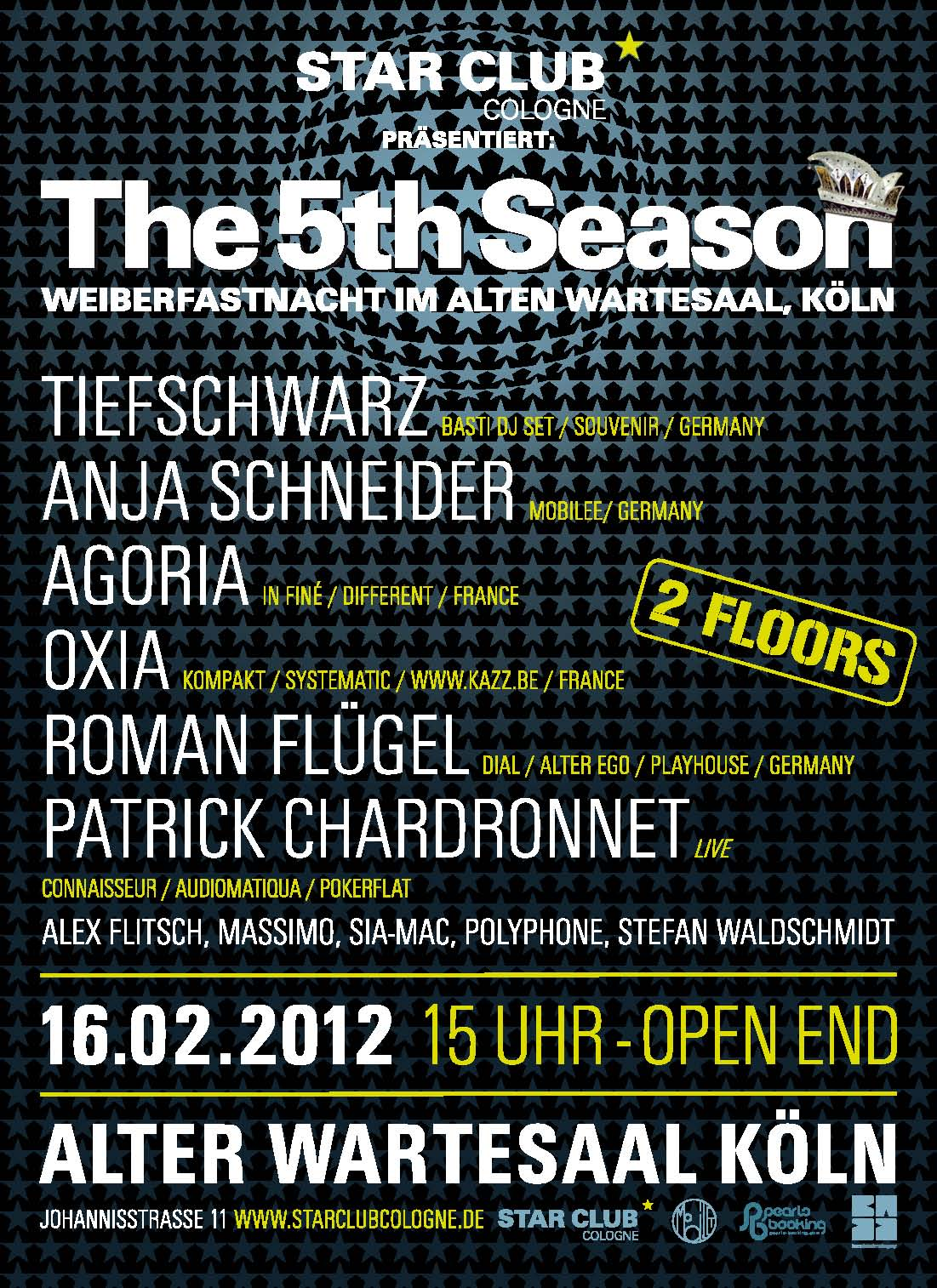 The 5th Season an Weiberfastnacht im Kölner Wartesaal