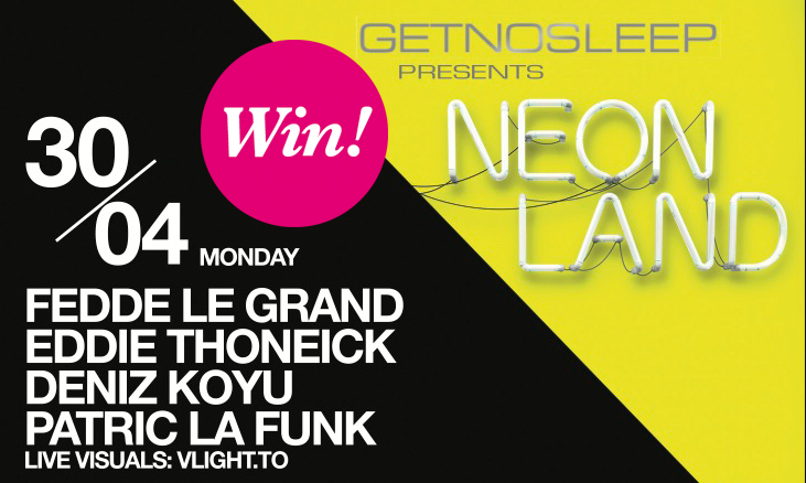 """GET NO SLEEP presents NEONLAND"" im Kölner Bootshaus mit Fedde le Grand, Eddie Thoneick etc."