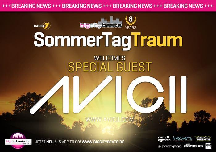 AVICII komplettiert das SommerTagTraum-LineUp