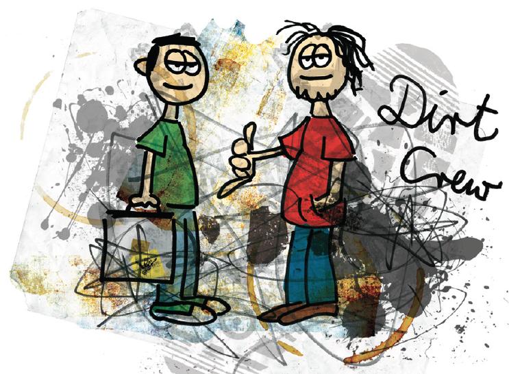 Gubis eher nicht so dolle DJ-Karikaturen: Dirt Crew