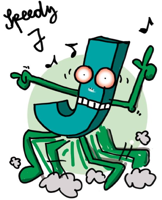 Gubis eher nicht so dolle DJ-Karikaturen: Speedy J