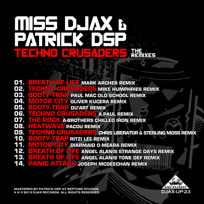Miss Djax & Patrick DSP – Techno Crusaders The Remixes (Djax Up)