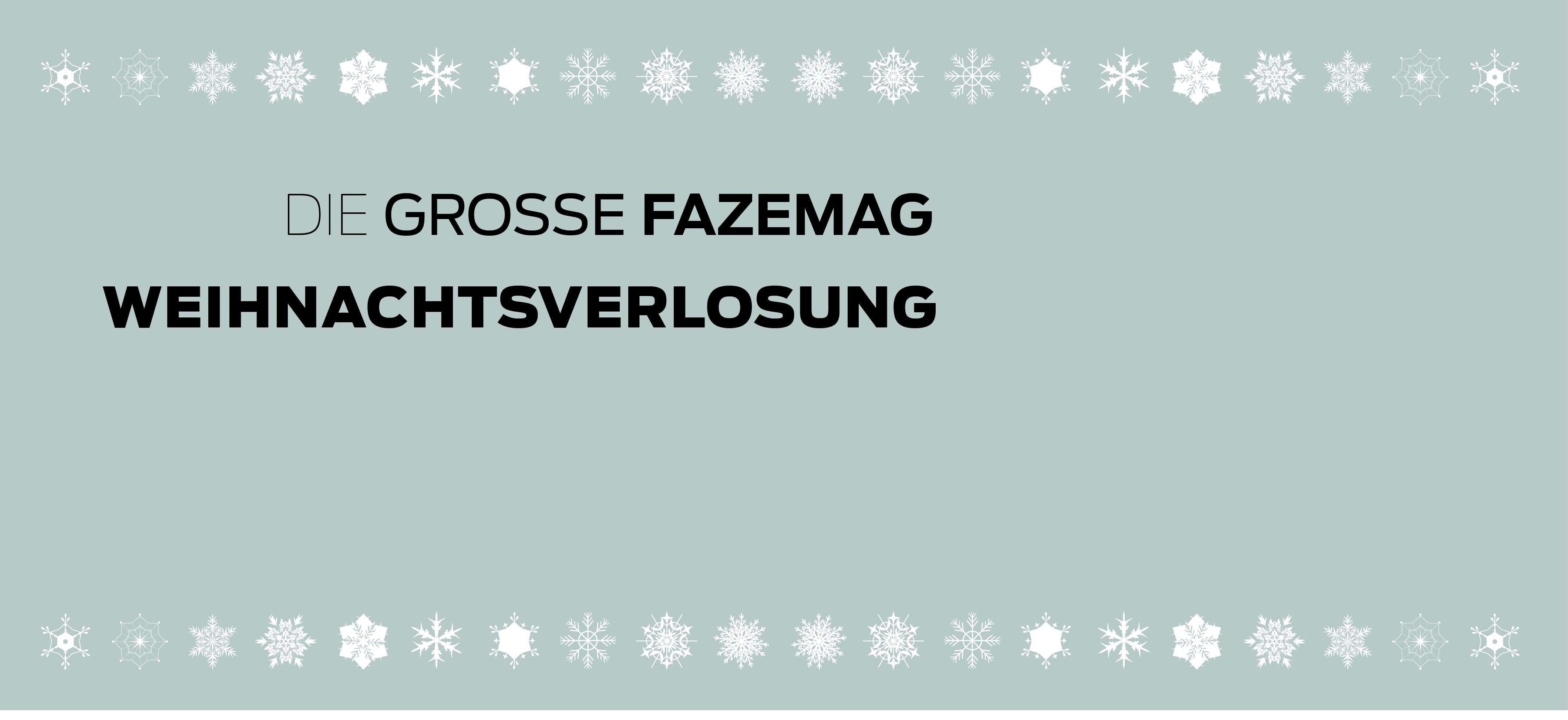 Die große FAZEmag Weihnachtsverlosung 2013