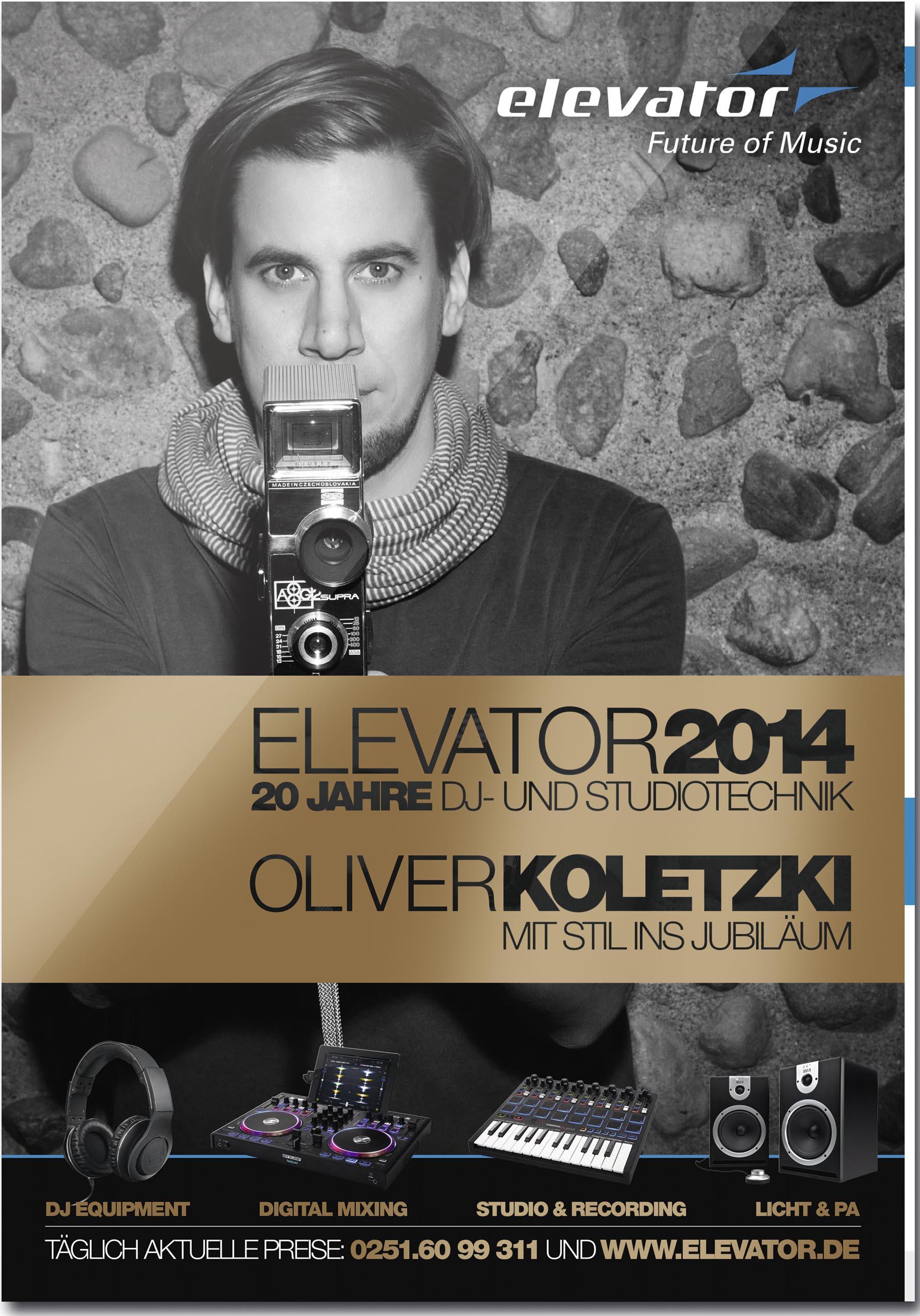 Zum Zwanzigsten: Der Elevator DJ Katalog 2014