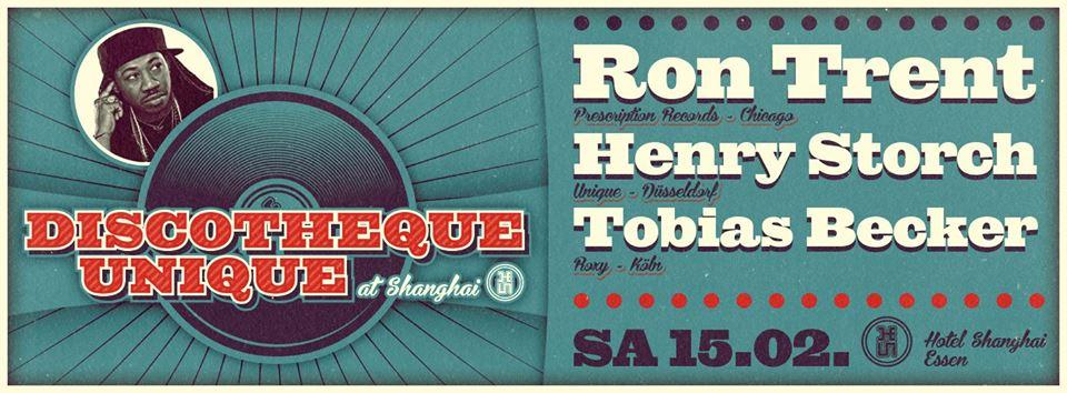 Gewinnt: Tickets für Ron Trent am Samstag im Hotel Shanghai in Essen