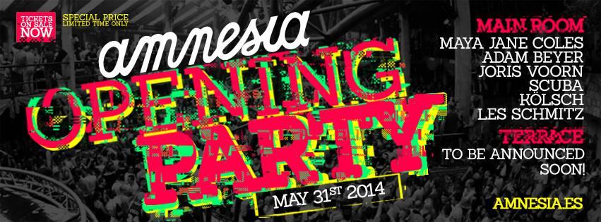 Amnesia startet Ende Mai die Ibiza-Saison 2014 mit großer Opening Party