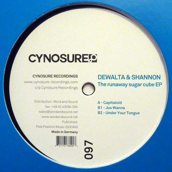 DeWalta & Shannon – The Runaway Sugarcube EP (Cynosure Rec. 097)
