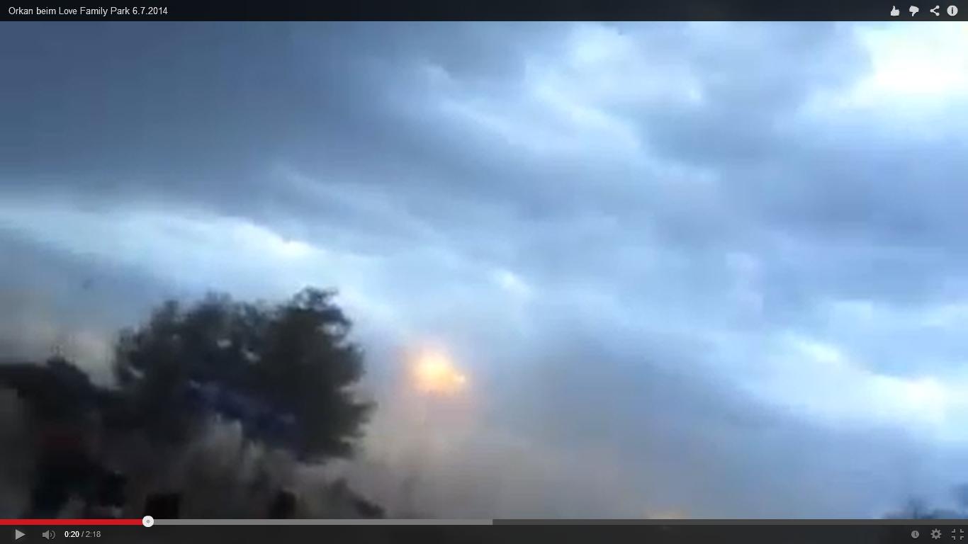 Orkan stoppt den Love Family Park – Evakuierung um 21:00 Uhr