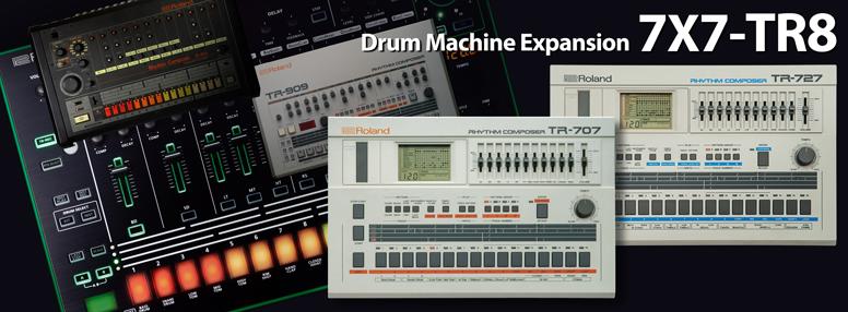 Roland AIRA präsentiert Drum Machine-Erweiterung 7X7-TR8