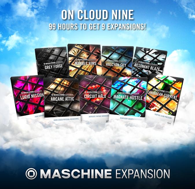 Native Instruments startet CLOUD 9 – ein befristetes Sonderangebot für MASCHINE Expansions