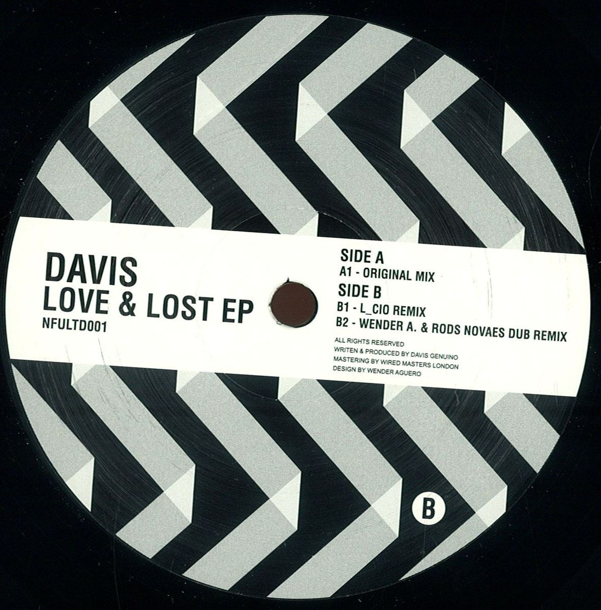 Davis – Love & Lost EP (Not for us ltd 01)