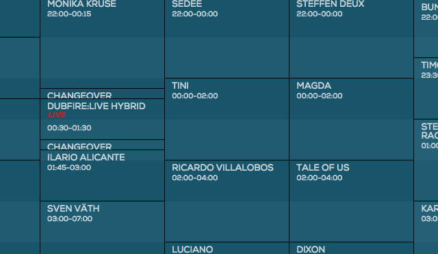 Time Warp 2015 – hier ist der Timetable!