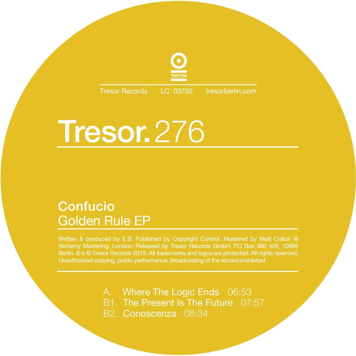 """UPDATE – Plagiatsvorwurf: Tresor zieht """"Golden Rule"""" EP zurück"""