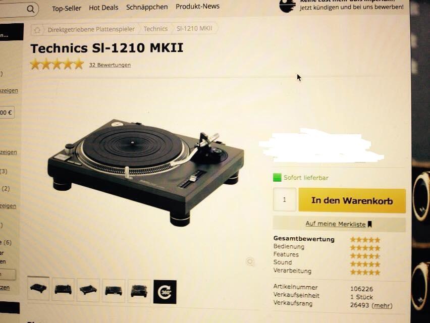 Was kostet gerade ein Technics MKII 1210?