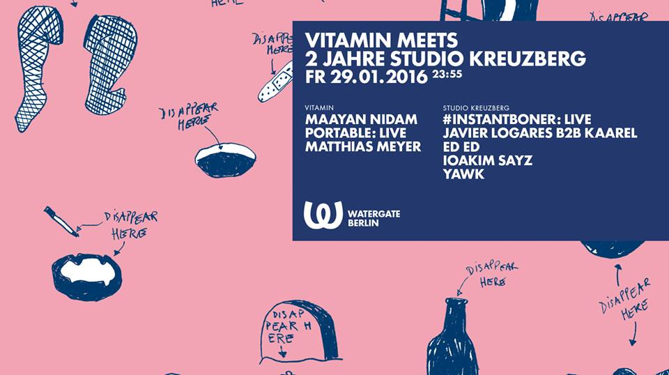 Vitamin meets 2 Jahre Studio Kreuzberg im Watergate – wir verlosen Tickets