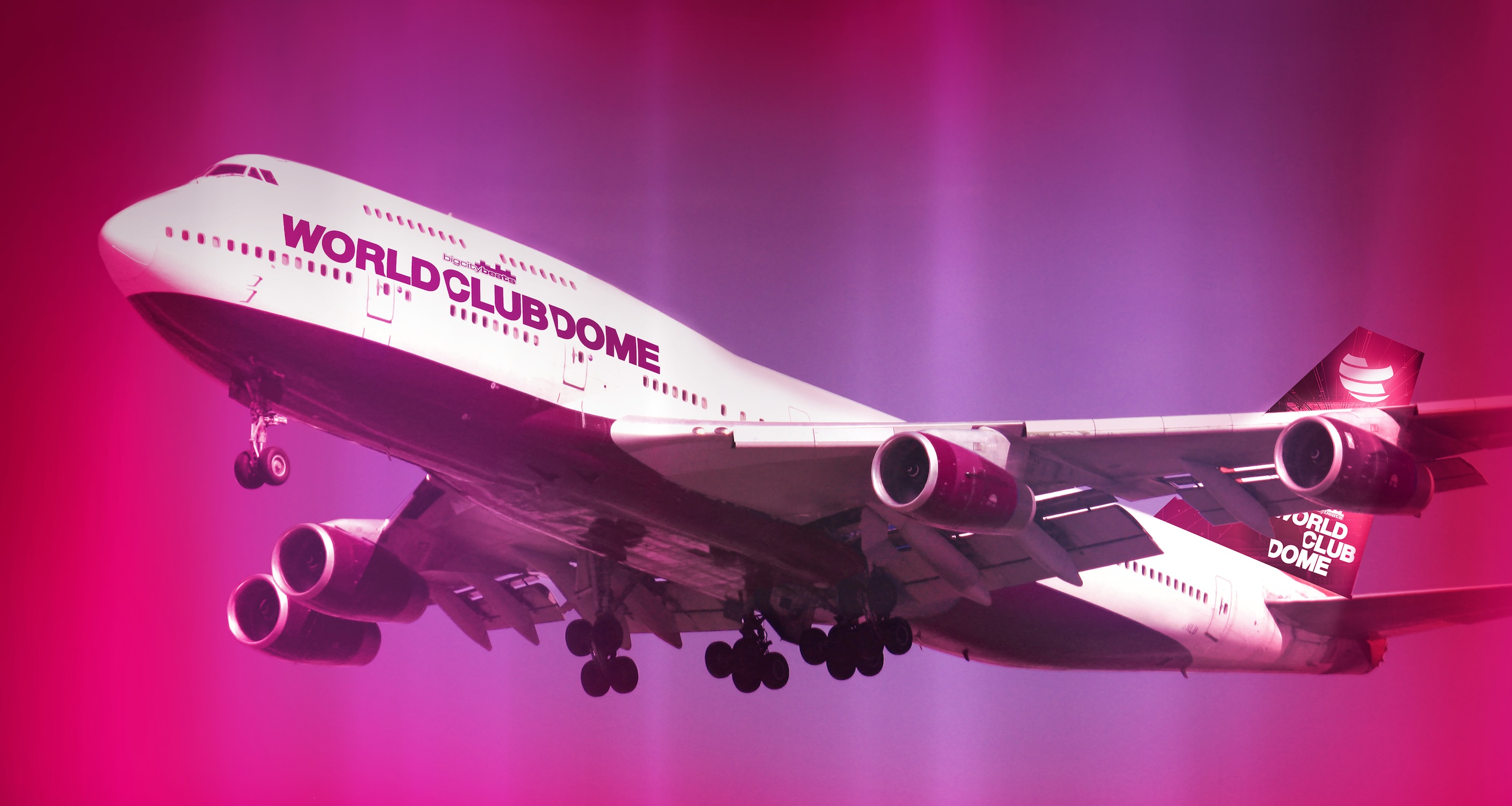 Party über den Wolken – mit der BigCityBeats Boeing 747 zum WORLD CLUB DOME