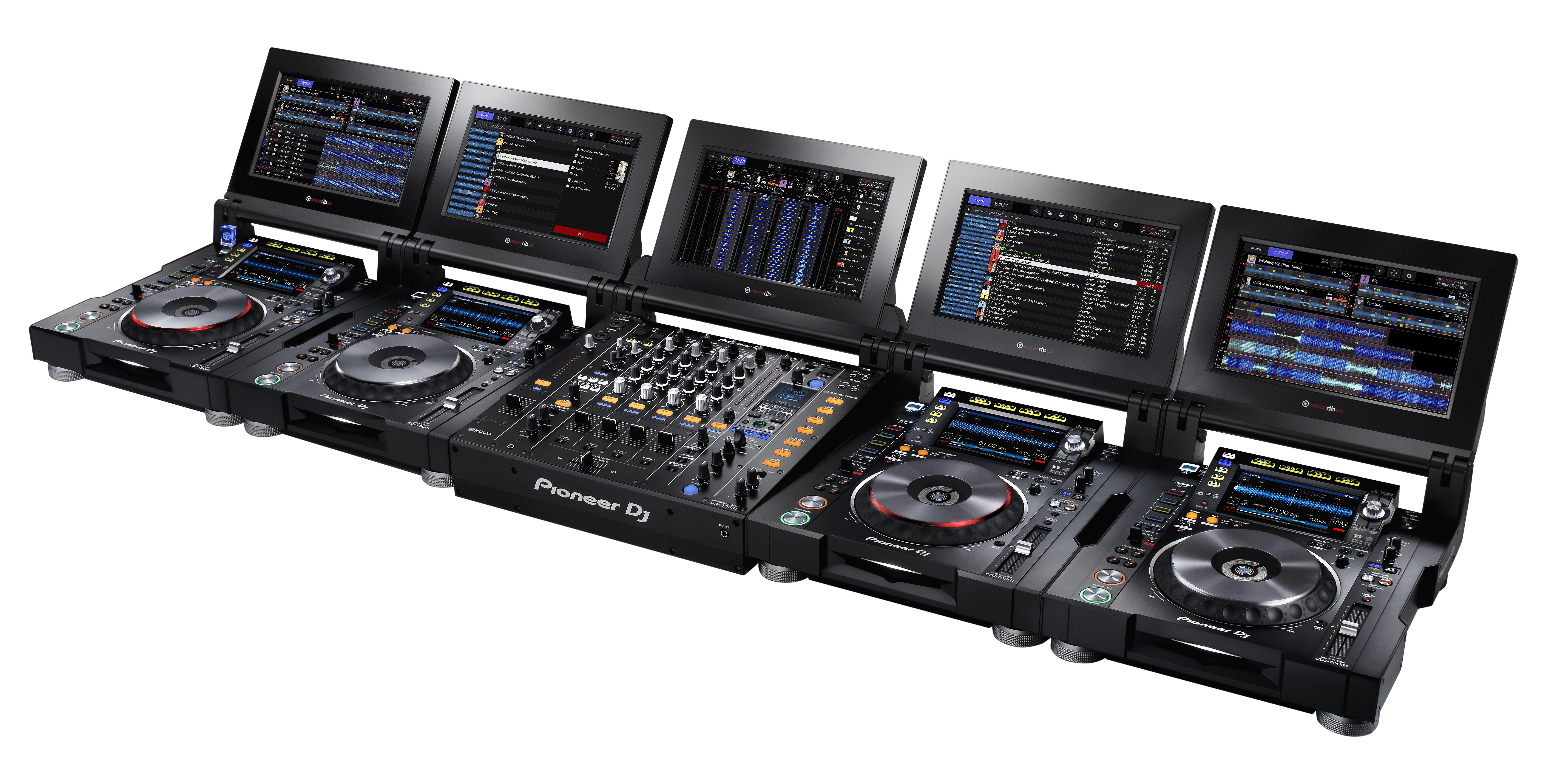Pioneer präsentiert CDJ-TOUR1 & DJM-TOUR1 Setup