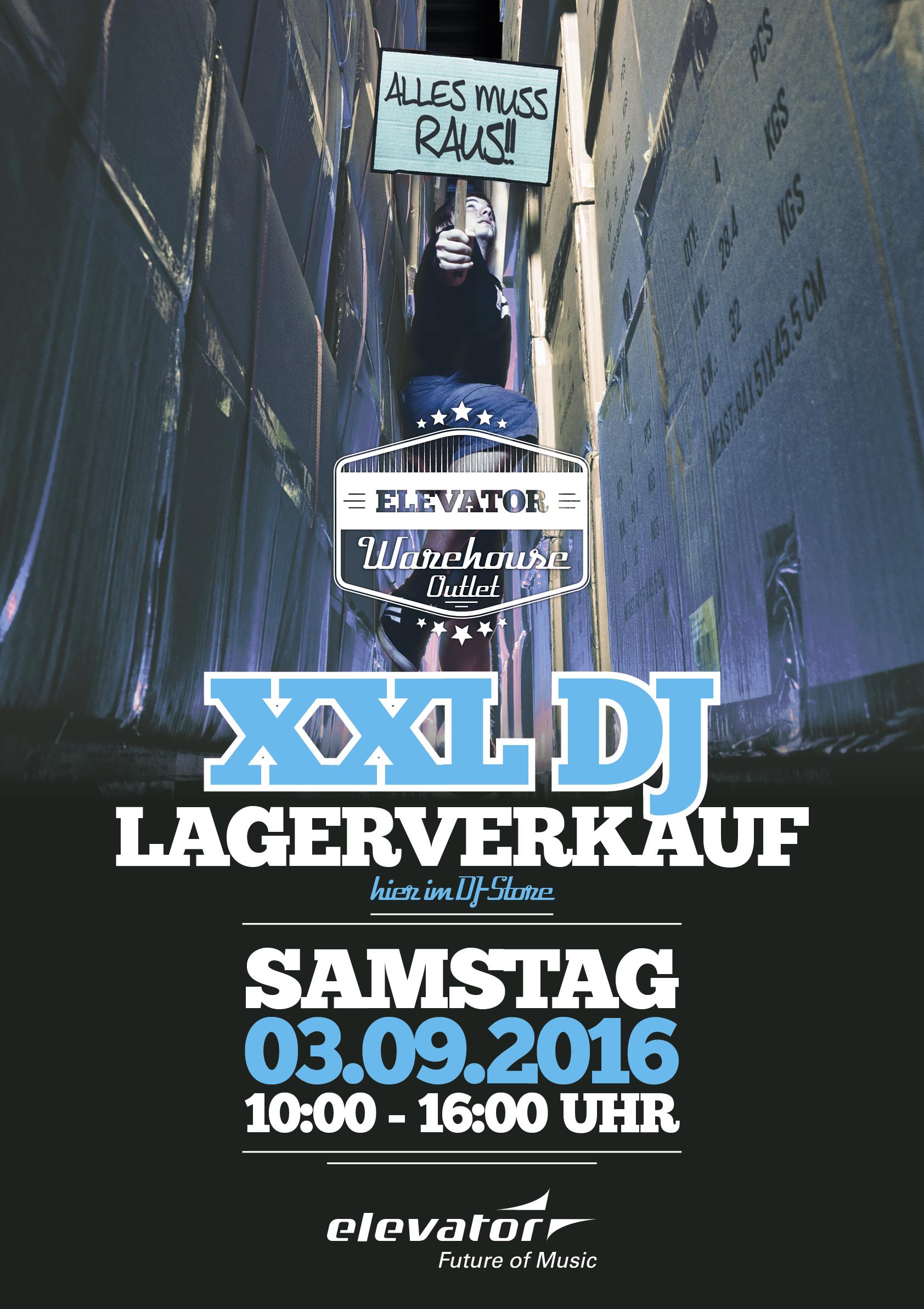 Elevator lädt wieder zum XXL DJ-Lagerverkauf ein