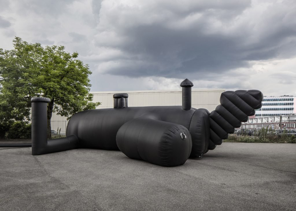 Kein Luftschloss: Schweizer Architekten entwickeln aufblasbaren Club