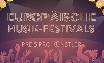 Europäische Festivals im Preisvergleich – Kosten pro Künstler
