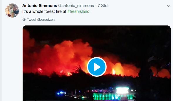 Waldbrand am Zrce Beach – Festival evakuiert